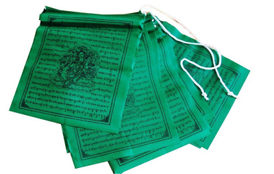 Tibetan Prayer Flags Solid Color Prayer Flags From Nepal - Green