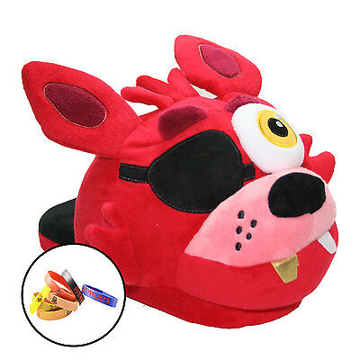 FNAF Five Nights at Freddy's Foxy The Pirate Pajama Plush Slip-On Slipper Shoes