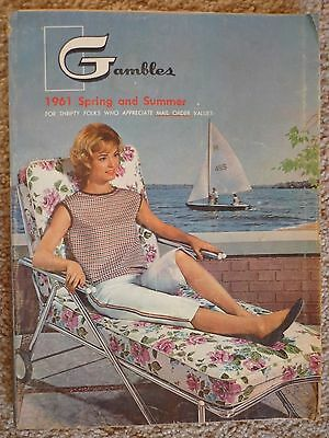 Vintage Gambles 1961 Spring and Summer Store Catalog w/Fold Out Clothing Section