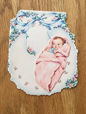 1960's Unused Greeting Card for Welcoming a Baby