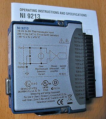 National Instruments NI 9213: 16-Channel ±78 mV Thermocouple Input Module