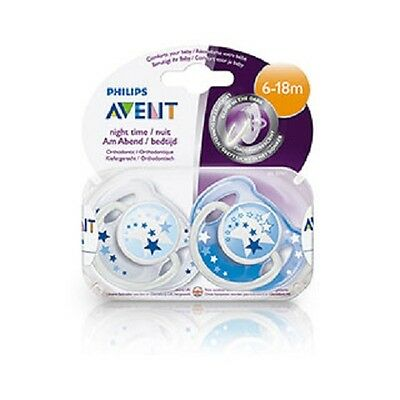 X2 New Avent Phillips Soother Baby Dummy Orthodontic Silicone 6-18months BPA 0%