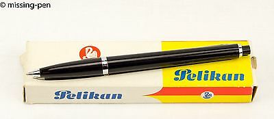 vintage Pelikan Ballpoint Pen K438 Black with silver Clip (from the 1970´s)