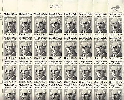 USA-United States 1976 13c Postage Adolph S Ochs New York Times Sheet Scot 1700