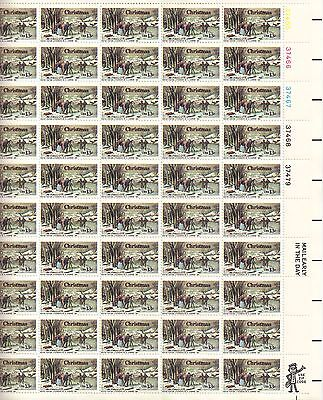 USA-United States 1976 13c Postage Winter Pastime by N Currier Sheet Scot 1703.