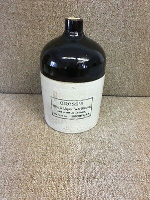Vintage Whiskey Jug With Cork Ceramic Good Condition