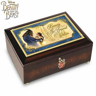 Disney Beauty And The Beast Music Box With Rose Charm