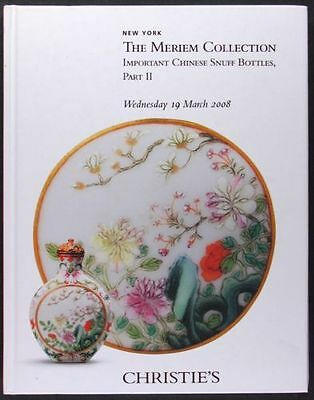 Antique Chinese Snuff Bottles -the Meriem Collection 2 volume Christie's Catalog