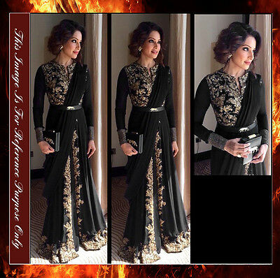 Bollywood Designer Stylish Long Dress Gown Party Wear Anarkali Suit Saree Sari