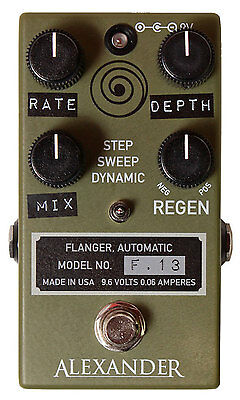 Alexander Pedals F-13 Flanger - Authorised Dealer! Brand New!