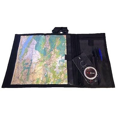 Navigation Map Case with water resistant pouches for Hiking and Adventure