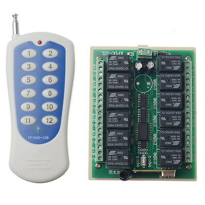 12 Channel 10A 315MHZ Wireless Programable RF Remote Control Switch Transmitter