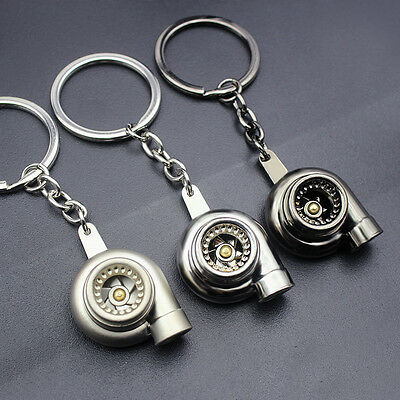 Car Creative Spinning Turbo Turbine Keychain Key Chain Ring Keyring Keyfob Gift