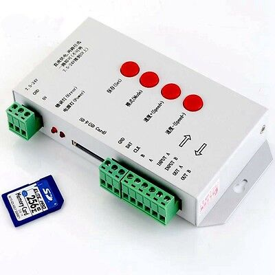 8W LED Pixel RGB Controller DMX512 WS2811 with 256MB SD Memory Card