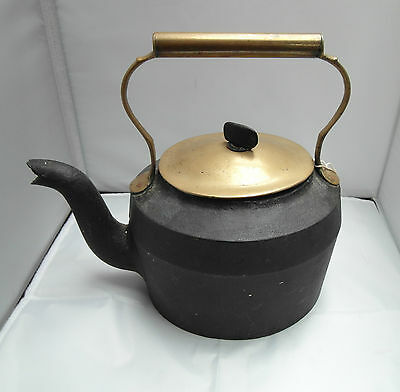 Antique Iron & Brass Kettle