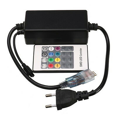 AC220V Wireless RGB Controller for LED Strip Light with IR Remote Controller
