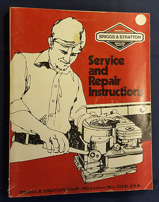 "Briggs & Stratton ""Service and Repair Instructions Manual"" (Softcover)"