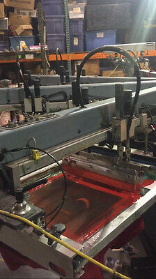 m&r sportsman 6 color automatic screen printing press