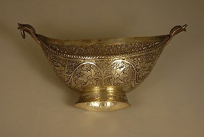 Silver Floral Bowl And Dish- Unknown Origin By Exquisite Craftsmanship