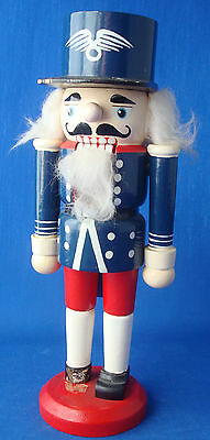 "9½"" wounded warrior soldier Christmas nutcracker red white & blue"