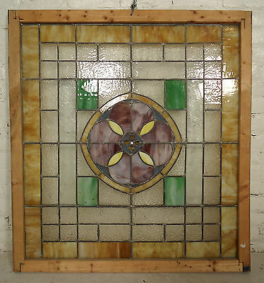 Vintage Modern Stained Glass Window (2111)NS