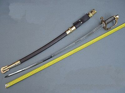 Occident Officer's Sword Honor Guard Sword knight Sword Stainless Steel #0042