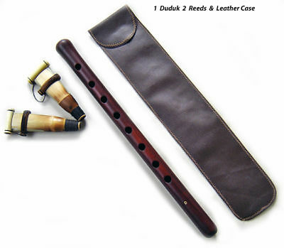 PRO DUDUK ARMENIAN +2 REEDS +CASE +PLAYING INSTRUCTIONS Apricot Wood Armenia Mey