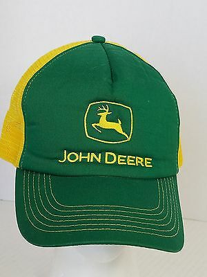 John Deere Green and Yellow Mesh Ball Cap Hat Farm Agriculture Embroidered