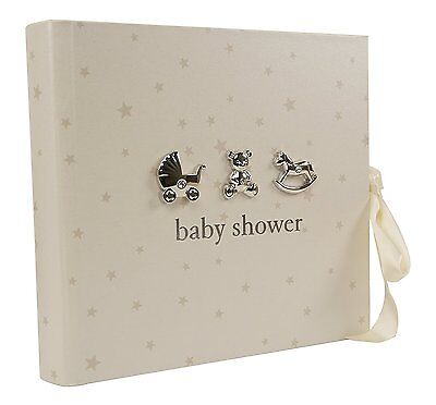 "Baby Shower photo album gift with 3D icons holds 80 6"" x 4"" photos"