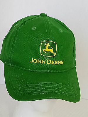 John Deere Green Farm Ball Cap Hat Embroidered Adjustable Agriculture