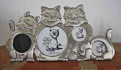 The Sweetest Little Kitty Picture Frame Ever! Spots For 4 Special Pictures