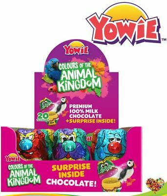 YOWIE CHOCOLATES with Surprise Toy YOWIE 12CT  RUMBLE CRAG BOOF NAP DITTY SQUISH