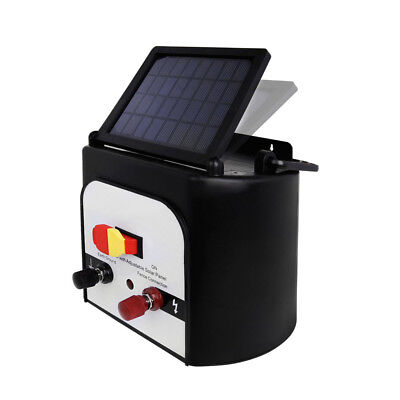 NEW Solar Power Electric Fence Energiser Energizer Charger 8Km / 0.3J