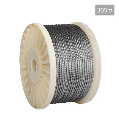 NEW 7 x 7 Marine Stainless Steel Wire Rope 305M