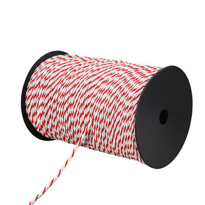 NEW 500m Red & White Poly Rope