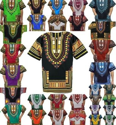 Dashiki African Girls Maxican Poncho Hippie Kid Blouse Ethnic Shirt Top One Size