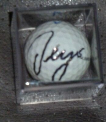 Sergio Garcia Signed  Masters Logo Golf Ball With Display Case