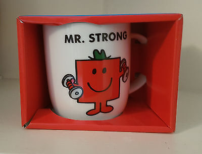 Mr. Strong Cermaic Coffee Mug (Mr Men) New & Boxed
