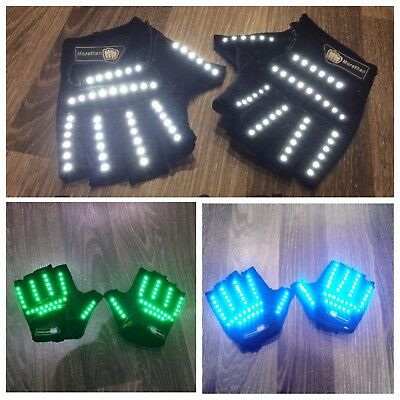 Led Gloves, Rave Gloves, Party Gloves, Led Costumes Rave Clothing Glowing Gloves