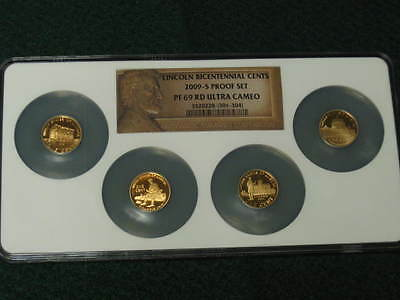 2009-S LINCOLN BICENTENNIAL MULTI-COIN (4) PROOF SET 1c NGC PF69 ULTRA CAMEO