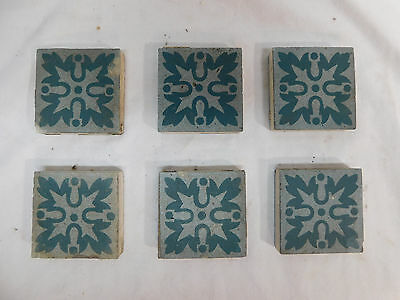 Six - U.S.E.T. Co. U.S. Encaustic Tile Co. Tiles - C. 1900 Architectural Salvage