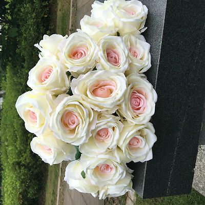 9Head Real Latex Touch Rose Flowers For wedding Party Home Design Bouquet Beauty