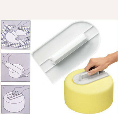 Reusable Cake Smoother Decorating Icing Fondant Sugar Craft Mold Making Tools B2