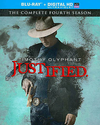 Justified: Complete Fourth Season (Blu-ray + Digital HD, 2013, 3-Disc Set) NEW