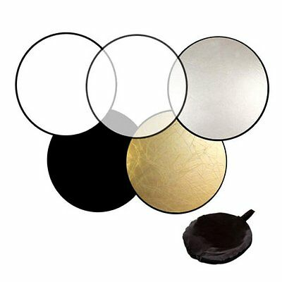 60cm 80cm 5in1 Photography Studio Light Mulit Collapsible disc Reflector B2