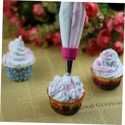 Two Color Piping Icing Bag Cake Cookie Cupcake Decorating Nozzles Tool Set U2