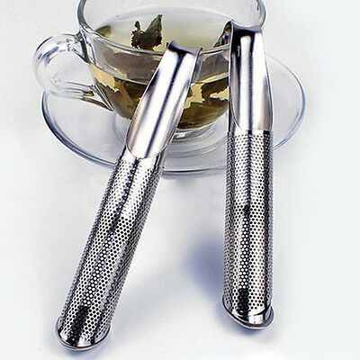 Mesh Loose Pipe Stainless Steel Tea Leaf Infuser Spice Strainer Herbal Filter...