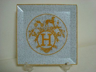 "Authentic HERMES   Porcelain Plate ""Mosaique Au 24"""