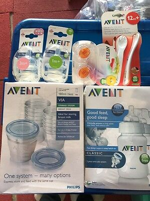 Baby Pack Avent Bottles And Teats Silicone Soother Dummy And Feeder Set