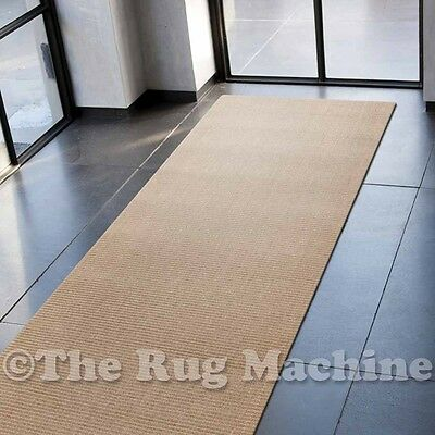 NATURAL SISAL SAND BEIGE BOUCLE KNOTTED HANDWOVEN RUG RUNNER 80x300cm **NEW**